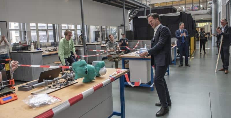 Corona inzet van collega Tycho Rasch voor ProjectMask van TU Delft!